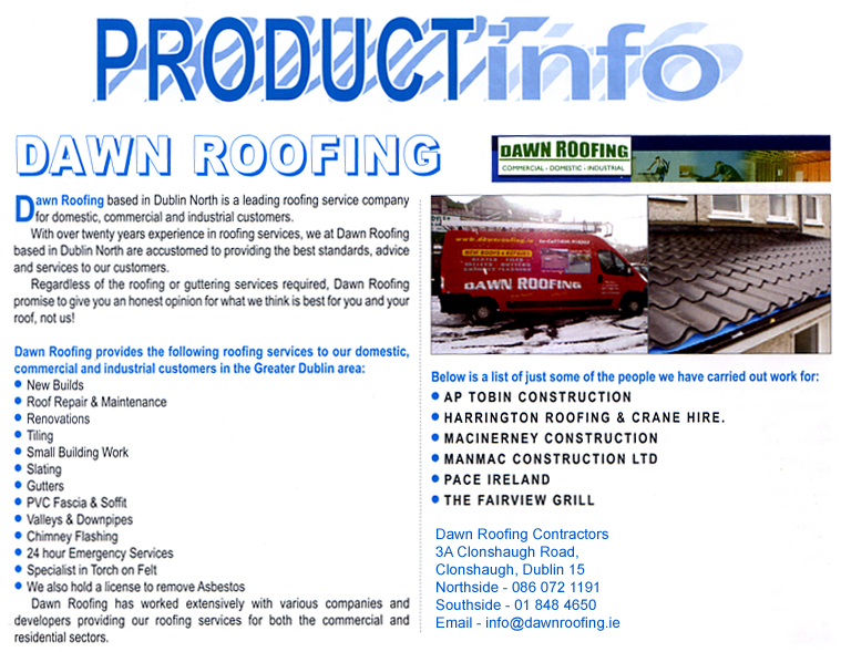 dawn roofing article